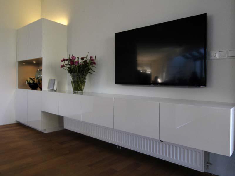 Tv mobel hangend kreative ideen ber home design - Moderne entree meubels ...